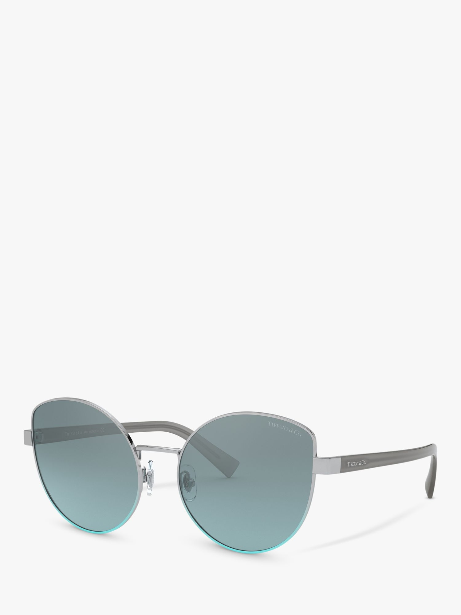 Tiffany & Co Tiffany & Co TF3068 Women's Irregular Sunglasses, Silver/Blue Gradient
