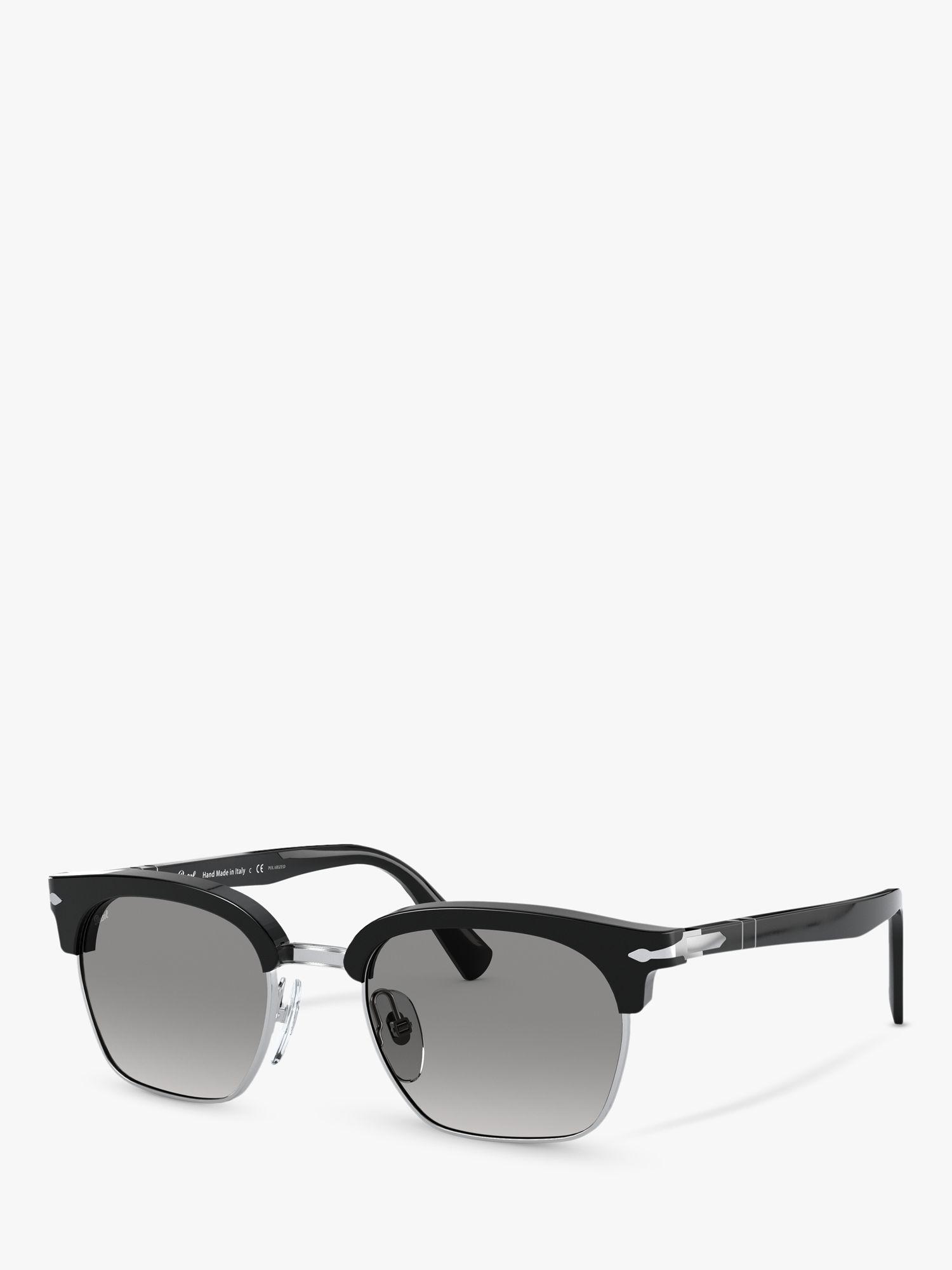Persol Persol PO3199S Unisex Polarised Square Sunglasses, Black/Grey Gradient