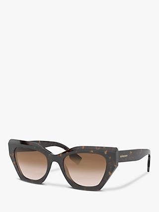 Burberry BE4299 Women's Butterfly Sunglasses, Dark Havana/Brown Gradient