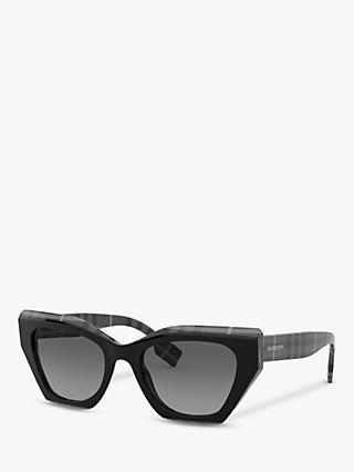 Burberry BE4299 Women's Butterfly Sunglasses, Multi/Grey Gradient