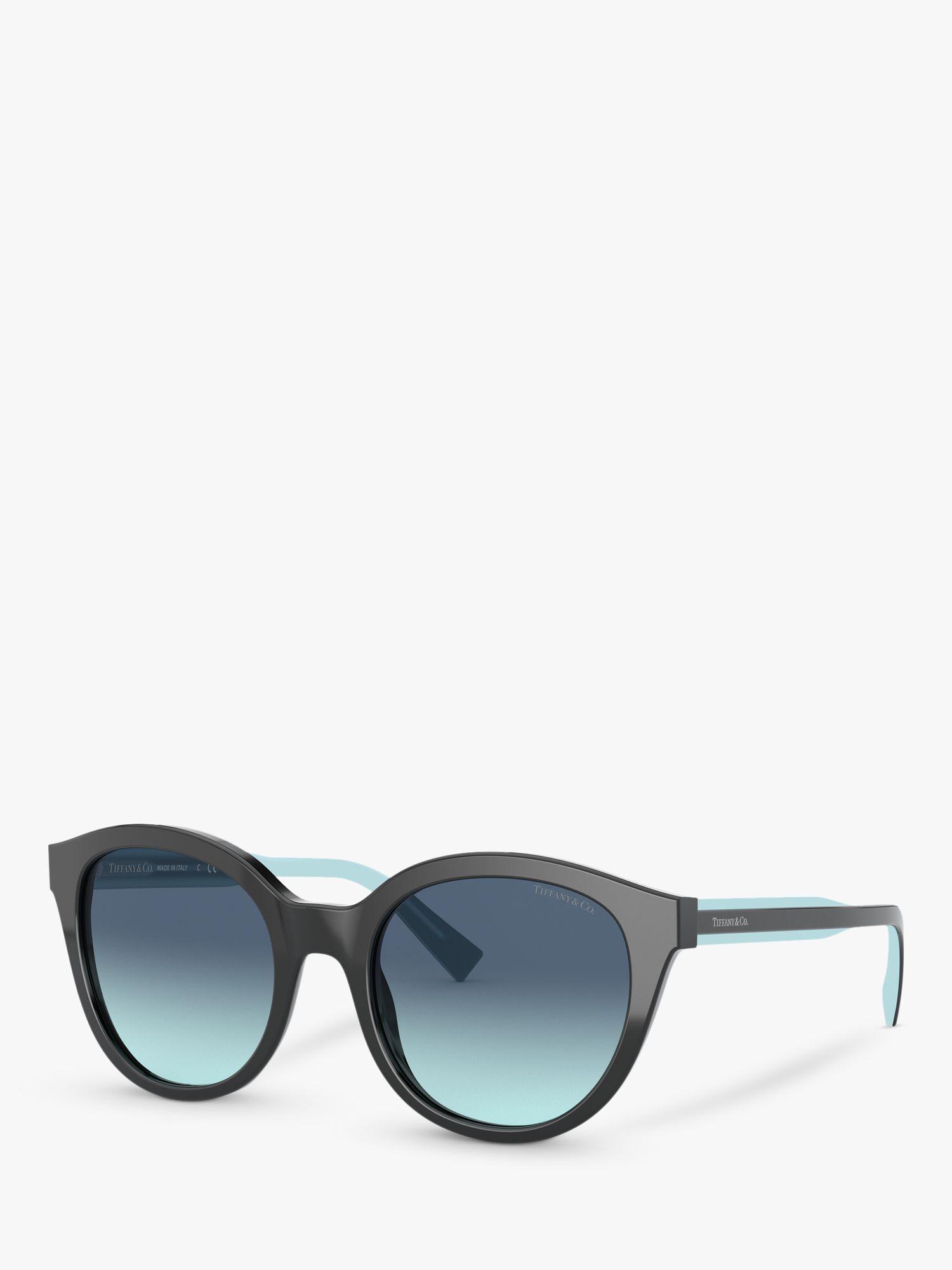 Tiffany & Co Tiffany & Co TF4164 Women's Oval Sunglasses, Black/Blue