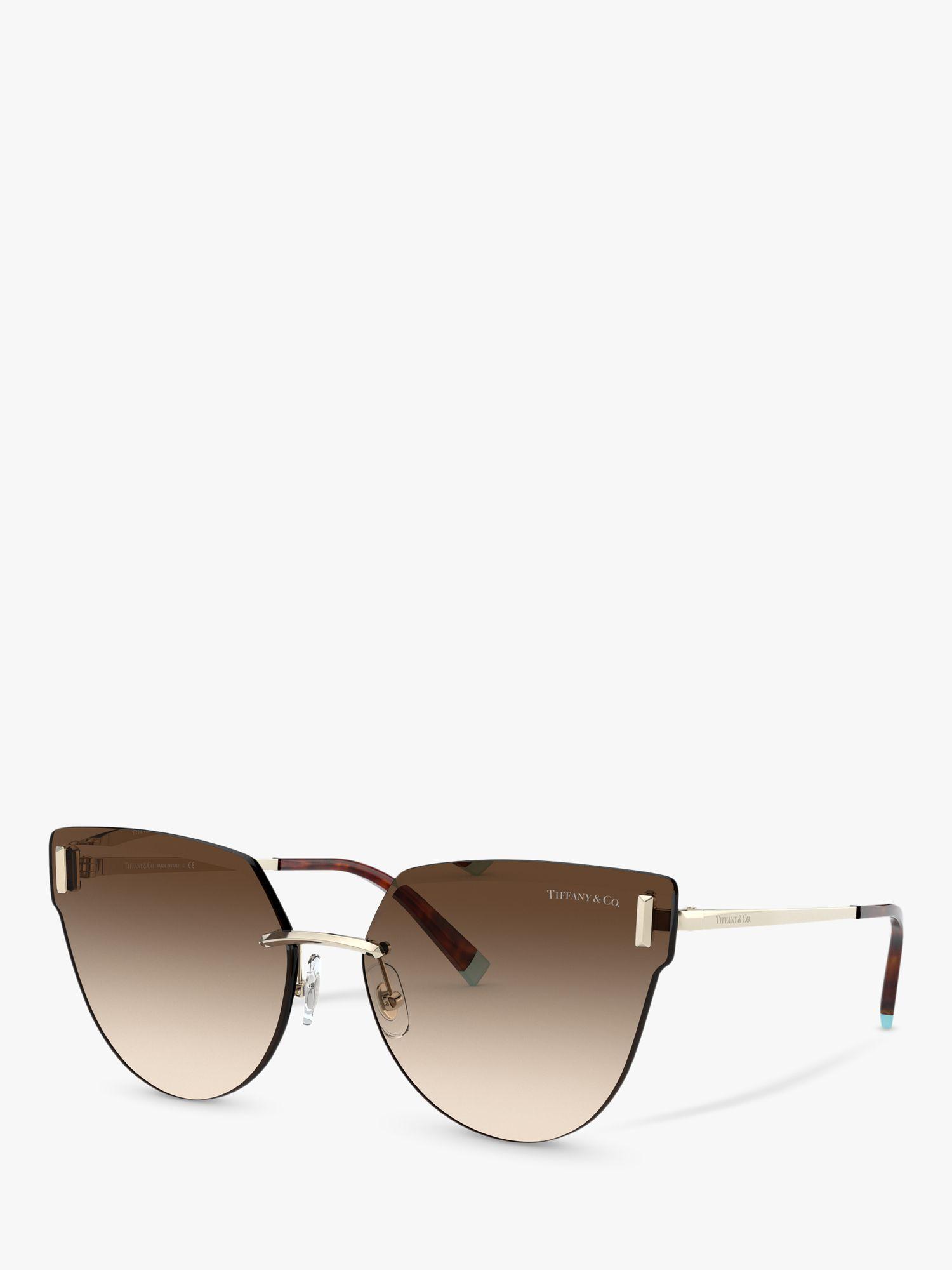 Tiffany & Co Tiffany & Co TF3070 Women's Irregular Sunglasses, Gold/Brown Gradient