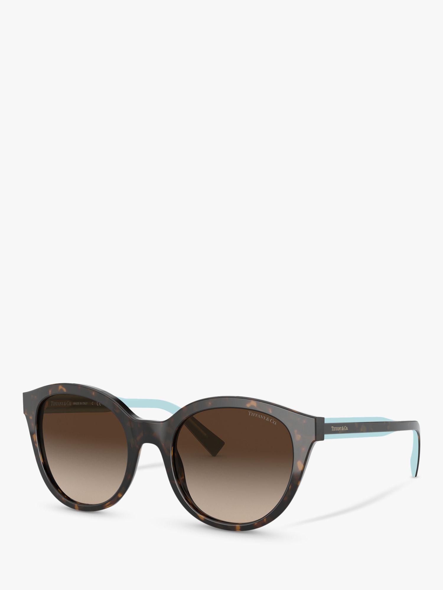 Tiffany & Co Tiffany & Co TF4164 Women's Oval Sunglasses, Havana/Brown Gradient