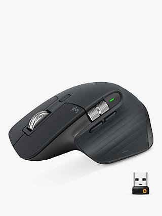 Logitech MX Master 3, Bluetooth Wireless Mouse, Black
