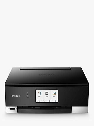Canon PIXMA TS8350 Three-in-One Wireless Wi-Fi Printer with Auto-Tilting Touch Screen, Black