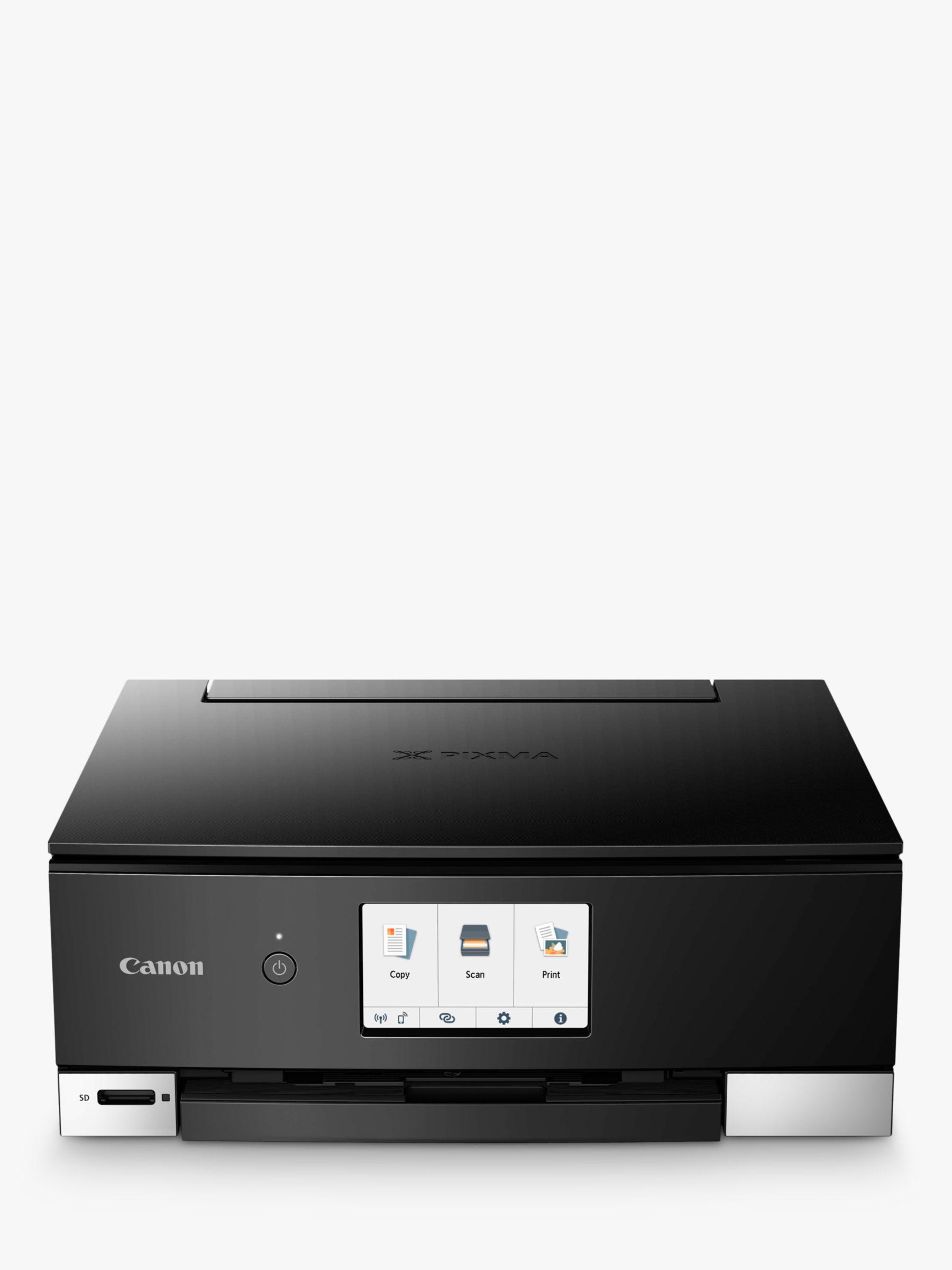 Canon Canon PIXMA TS8350 Three-in-One Wireless Wi-Fi Printer with Auto-Tilting Touch Screen, Black