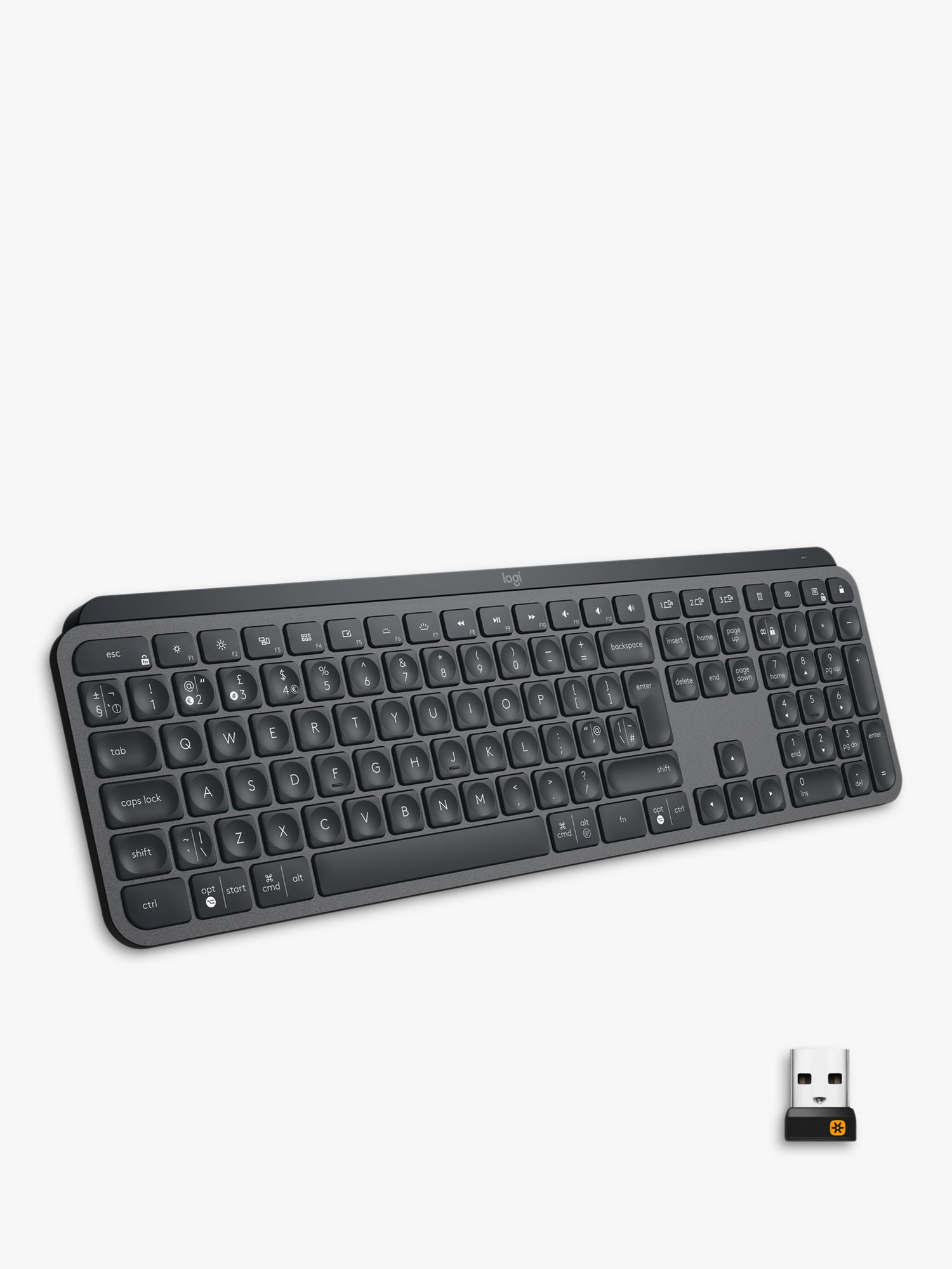 Logitech Logitech MX Keys, Bluetooth Wireless Keyboard, Black