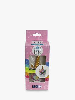 PME Cup Kits Unicorn Cupcake Decorating Set, Pack of 6, Pink/Multi