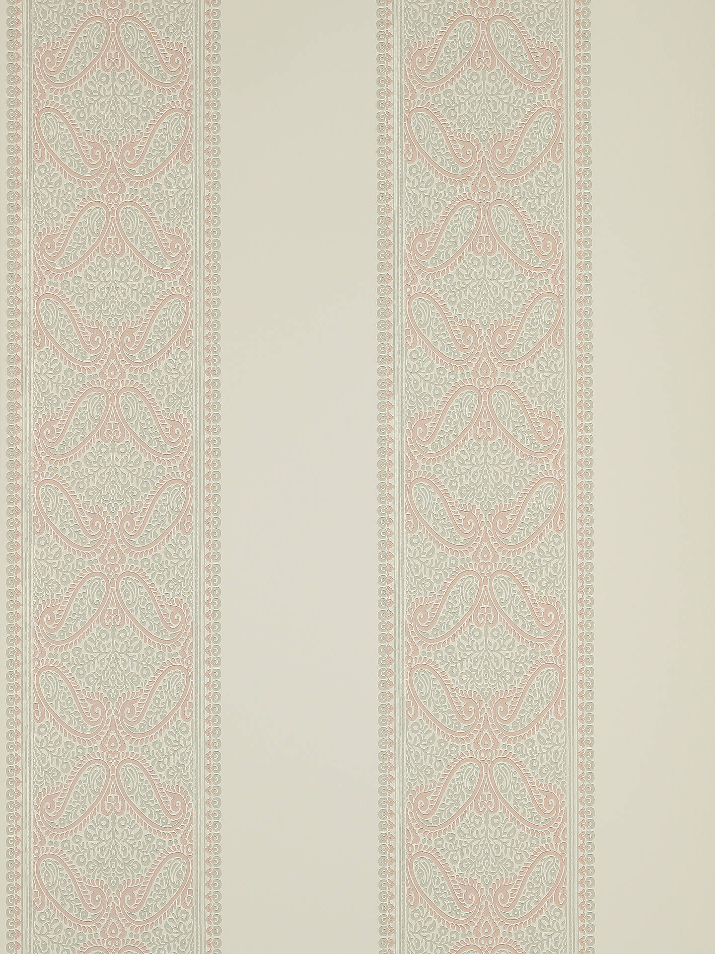 Buy Colefax and Fowler Verney Stripe Wallpaper, Pink 07186/03 Online at johnlewis.com