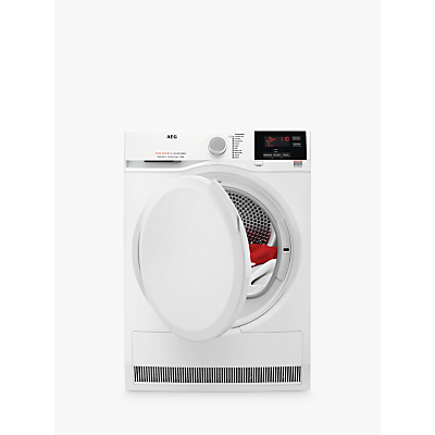 AEG 7000 Series T7DBG840N Freestanding Heat Pump Tumble Dryer, 8kg Load, A++ Energy Rating, White