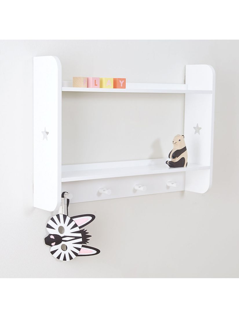 Great Little Trading Co Star Bright Landscape Wall Shelves And Hooks White At John Lewis Partners