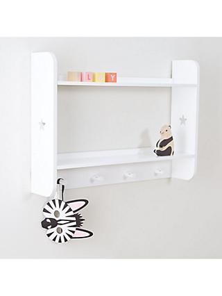 Great Little Trading Co Star Bright Landscape Wall Shelves and Hooks, White