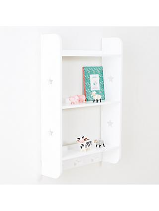 Great Little Trading Co Star Bright Portrait Wall Shelves and Hooks, White