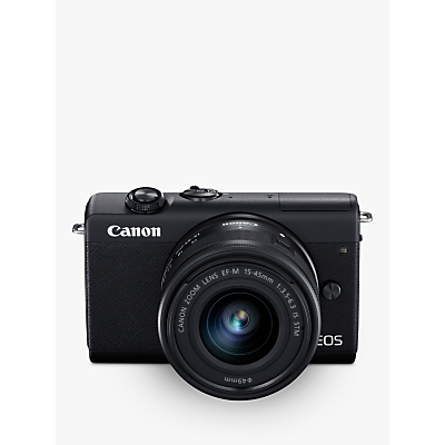 Canon EOS M200 Compact System Camera with EF-M 15-45mm f/3.5-6.3 IS STM lens, 4K UHD, 24.1MP, Wi-Fi, Bluetooth, 3 Tiltable Touch Screen