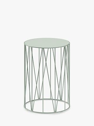 John Lewis & Partners St Lucia Garden Round Side Table, Dusty Green