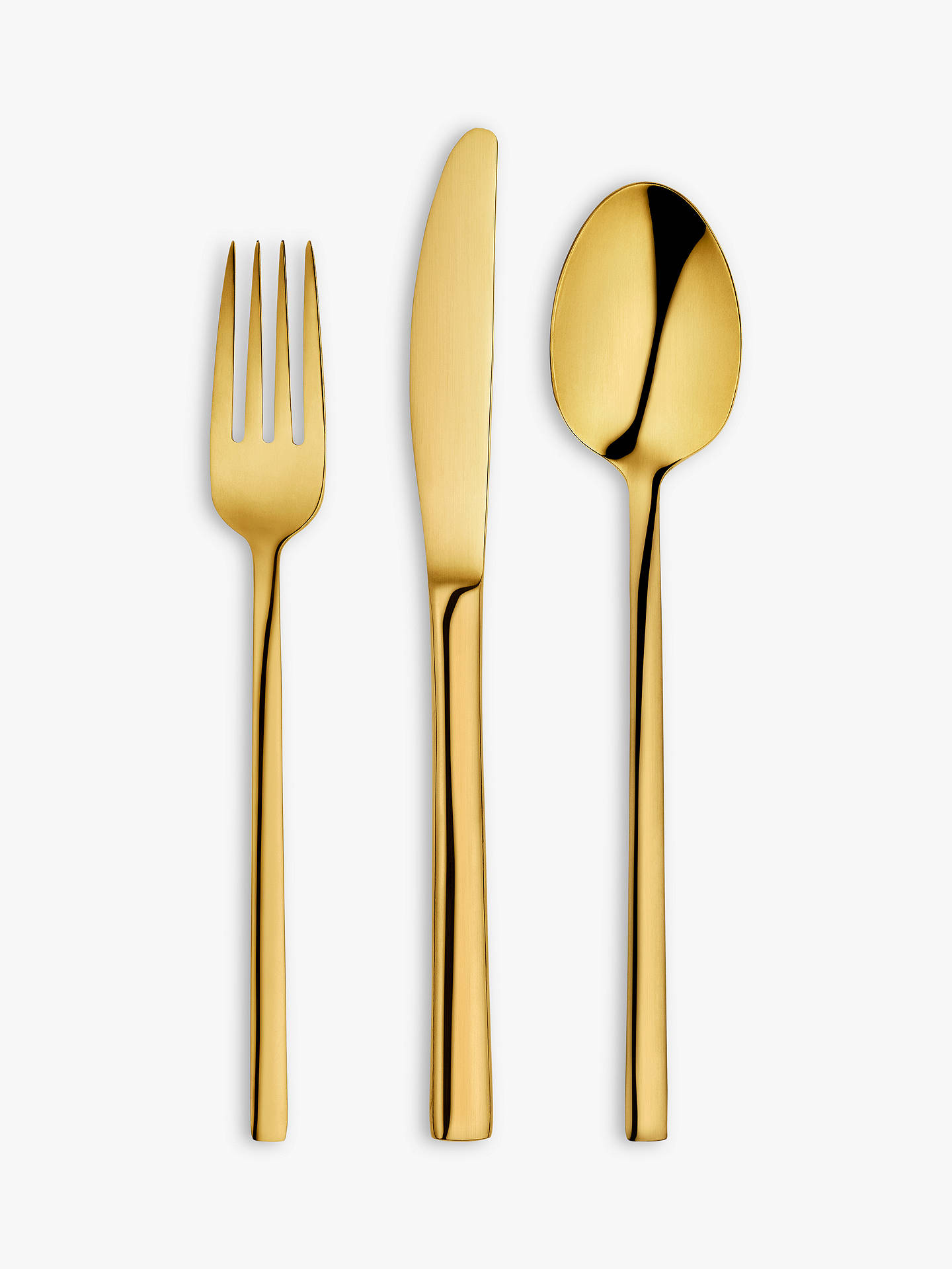 Buy John Lewis & Partners Plane Cutlery Set, 18 Piece/6 Place Settings, Gold Online at johnlewis.com