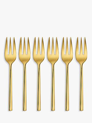 John Lewis & Partners Plane Pastry Forks, Set of 6