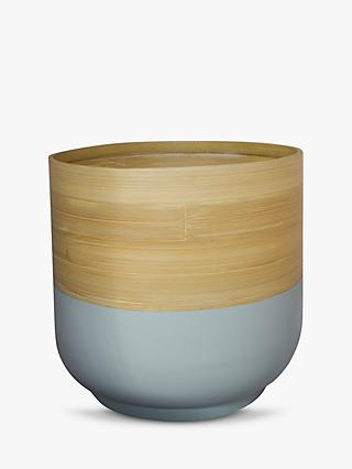 Ivyline Bamboo Indoor Planter, 28cm