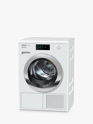 Miele TCR860WP Heat Pump Tumble Dryer, 9kg Load, A+++ Energy Rating, White