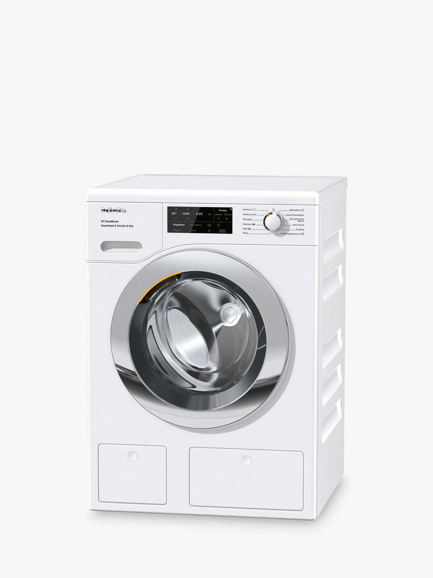 Miele Miele WEI865 Freestanding Washing Machine, 9kg Load, 1600rpm, A+++ Energy Rating, White