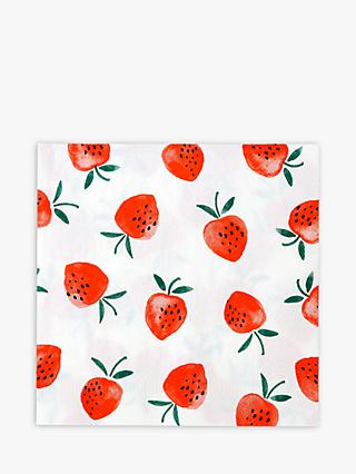 Talking Tables Strawberry Paper Napkins, Pack of 20