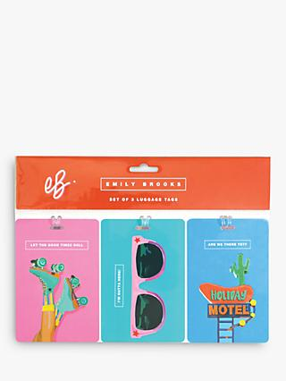 Emily Brooks Luggage Tags, Set of 3