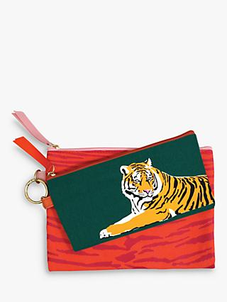 Emily Brooks Tiger Cotton Pouches, Set of 2