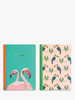 Emily Brooks A5 Birds Notebooks, Set of 2
