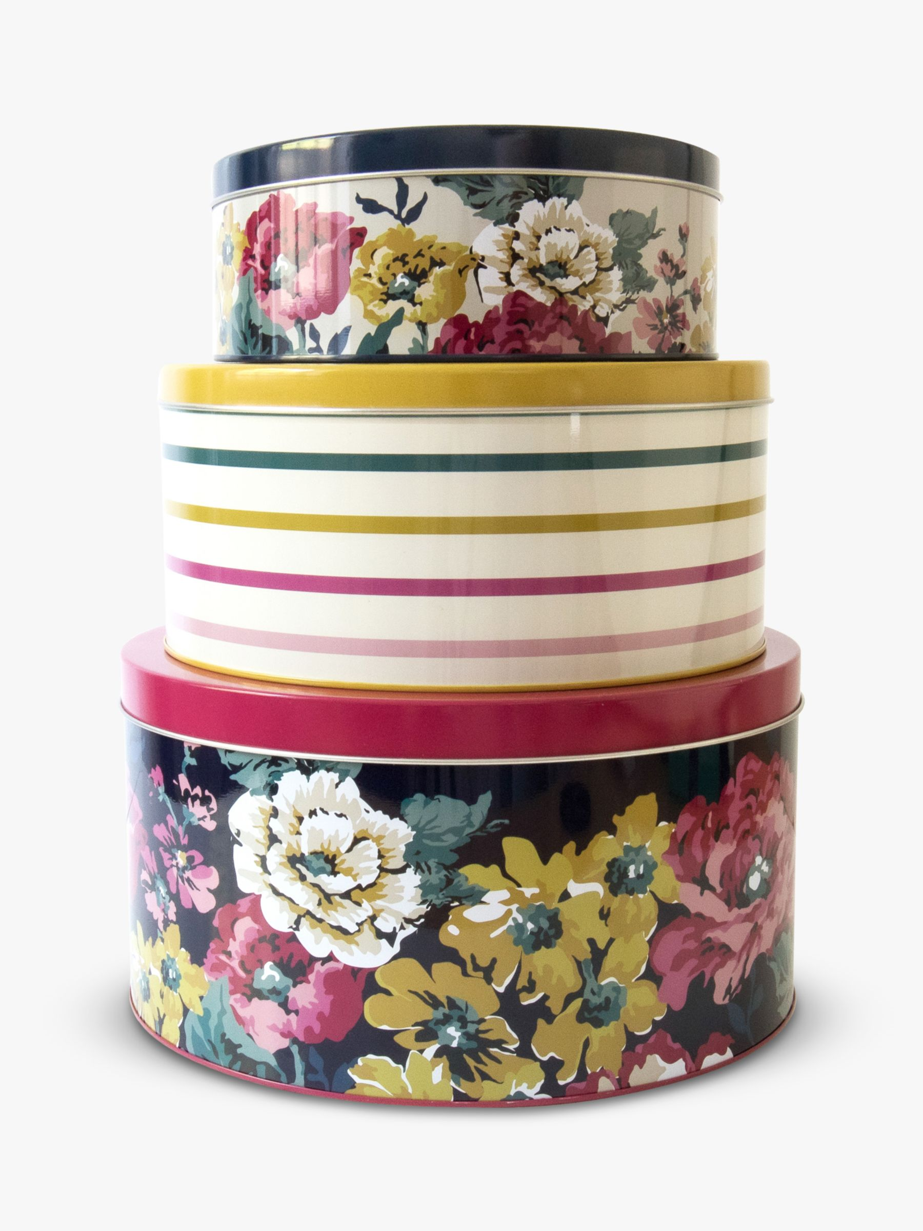 Joules Joules Cambridge Floral Nested Cake Tins