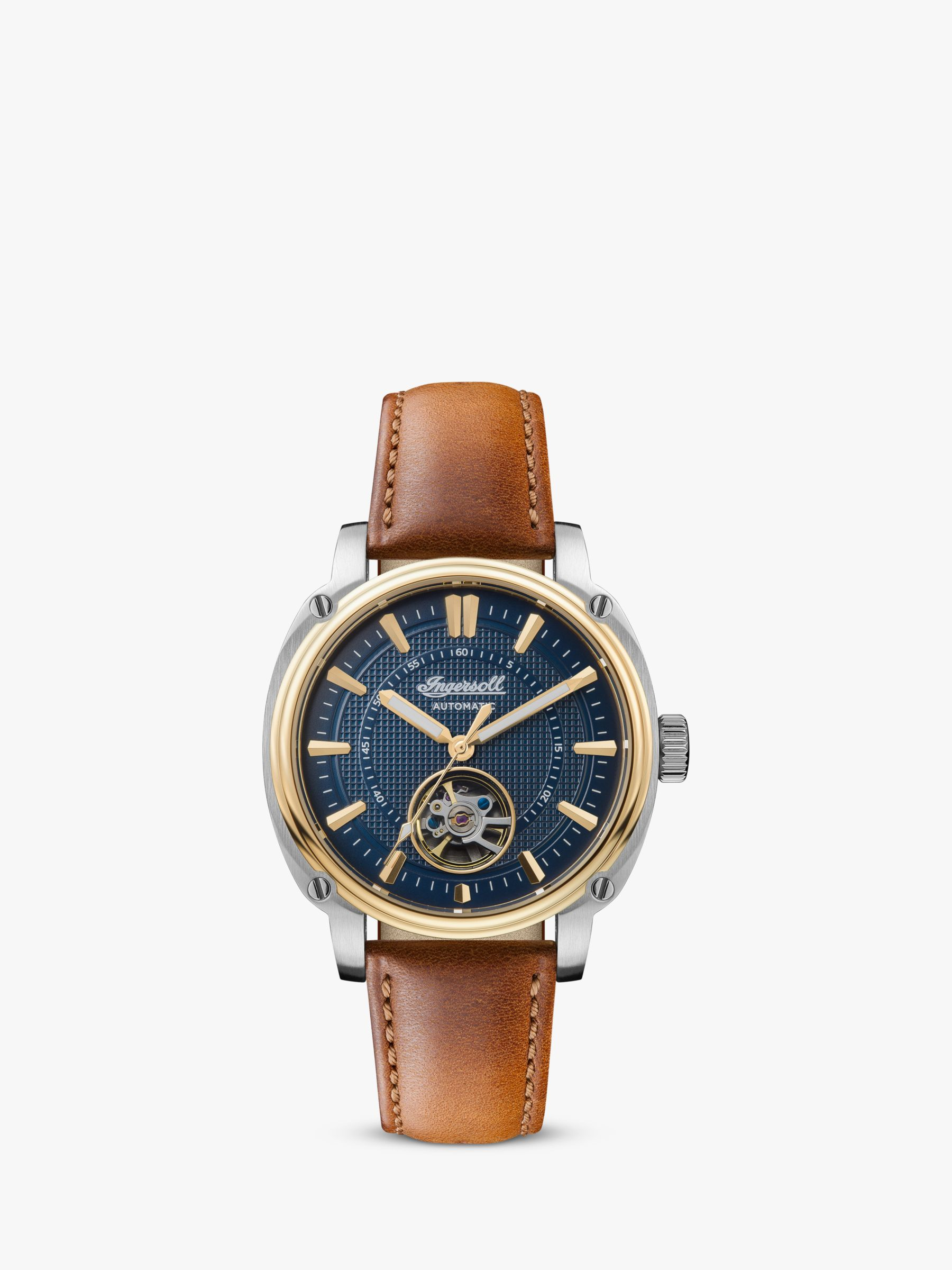 Ingersoll Ingersoll Men's The Director Automatic Heartbeat Leather Strap Watch