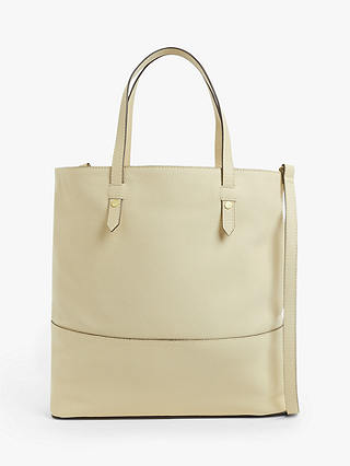 Buy John Lewis & Partners Leather Work Tote Bag, Cream Online at johnlewis.com