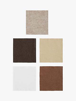 Habico Felt Fabric Square, Pack of 5, Natural
