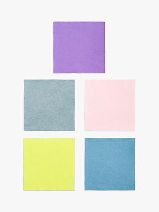 Habico Felt Fabric Square, Pack of 5, Pastel
