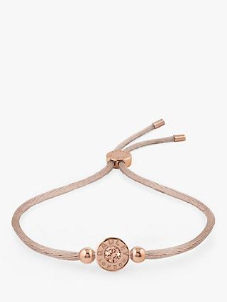 Radley Fountain Road Vintage Swarovski Adjustable Cord Friendship Bracelet, Mink