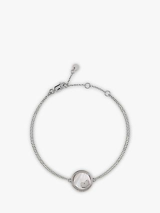 Radley Love Radley Dog Mother Of Pearl Double Chain Bracelet, Silver
