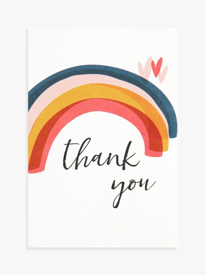 Caroline Gardner Caroline Gardner Rainbow Thank You Note Cards, Pack of 10