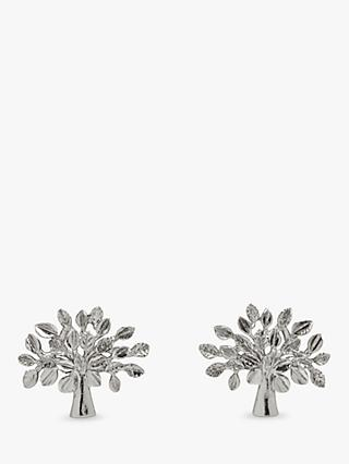 Mulberry Tree Stud Earrings, Silver