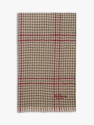 Mulberry Reversible Lambswool Scarf
