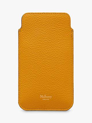 Mulberry Small Classic Grain Leather iPhone Cover & Card Slip