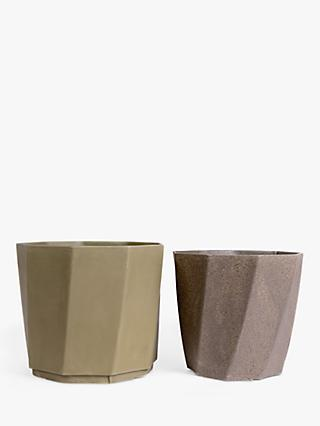 Husk Alma Recyclable Stackable Planters, Set of 2