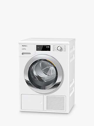 Miele TEJ665 WP Heat Pump Tumble Dryer, 9kg Load, A+++ Energy Rating, White