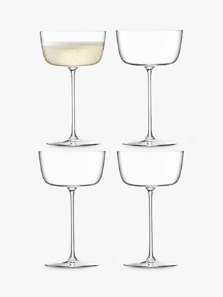 LSA International Borough Champagne Saucers, Set of 4, 240ml, Clear