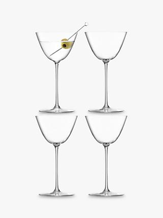 LSA International Borough Martini Glasses, Set of 4, 195ml, Clear
