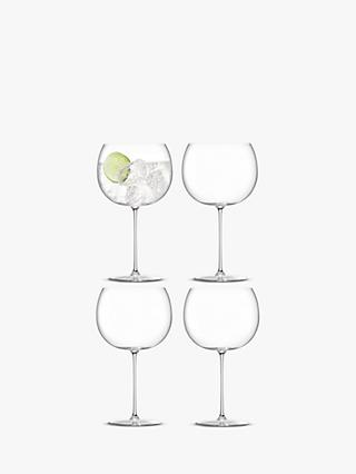 LSA International Borough Gin Balloon Glasses, Set of 4, 680ml, Clear