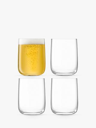 LSA International Borough Bar Glasses, Set of 4, 625ml, Clear