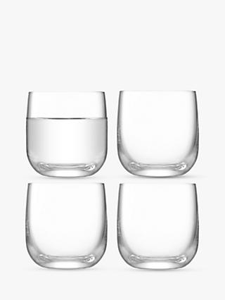 LSA International Borough Shot Glasses, Set of 4, 75ml, Clear