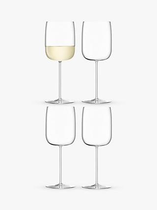 LSA International Borough White Wine Glasses, Set of 4, 380ml, Clear