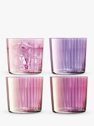 LSA International Gio Gem Tumbler Glasses, Set of 4, 310ml