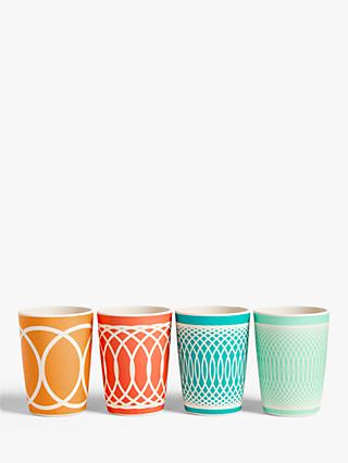LEON Bamboo Picnic Tumblers, 200ml, Set of 4, Assorted