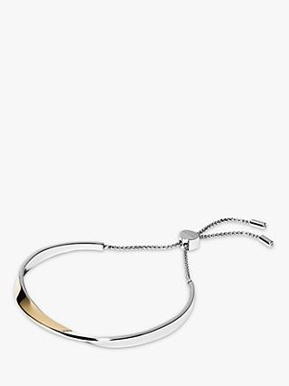 Skagen Twist Chain Bangle Bracelet, Gold/Silver SKJ1270998